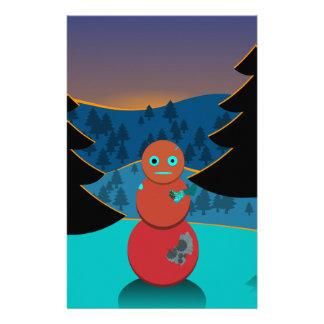 Robo' snowman stationery