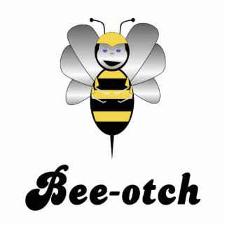 Robobee Bumble Bee Bee-otch Ornament Acrylic Cut Out