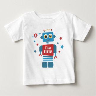 Robot 1st Birthday Baby T-Shirt