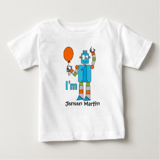 Robot 1st Birthday Party Baby T-Shirt