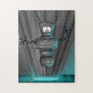 ROBOT 3 ALIEN  CARTOON PUZZLE 11 X 14