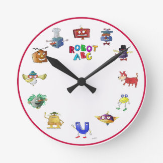 Robot ABC Clock by Jerry Hunt