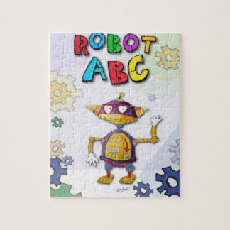 Robot ABC Puzzle by Jerry Hunt