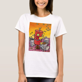 Robot and the Honey Bees T-Shirt