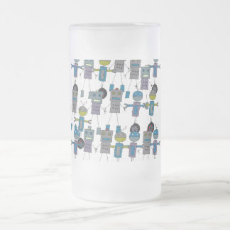 Robot Army Frosted Mug