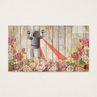 Robot attack business card