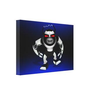 Robot attack warrior canvas print