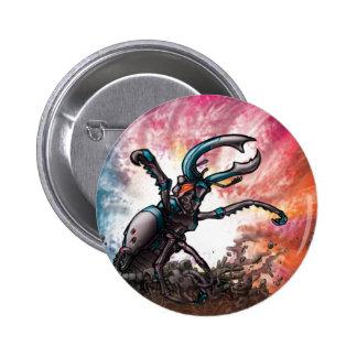 Robot Beetle 6 Cm Round Badge