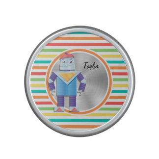 Robot Bright Rainbow Stripes Bluetooth Speaker