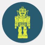 robot button round sticker