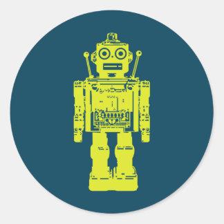 robot button round stickers