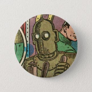 Robot by Basil Wolverton 6 Cm Round Badge
