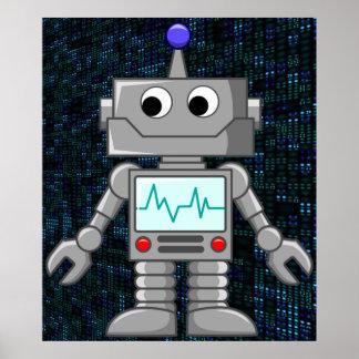 robot cartoon poster