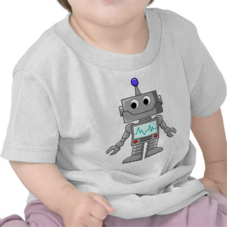 robot cartoon tee shirt