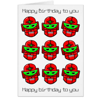 Robot Choral Society - Happy Birthday Song Card
