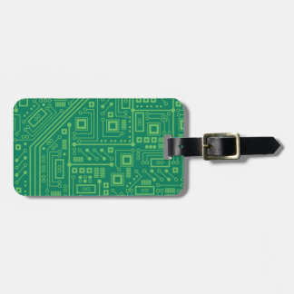 Robot Circuit Board Luggage Tag