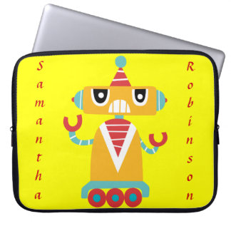robot computer case, can be personalized laptop sleeves