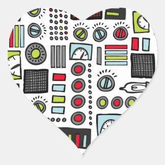 Robot Controls 3000 Heart Sticker