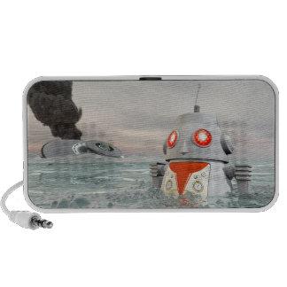 Robot Crash at Sea Doodle Travelling Speaker