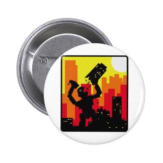 Robot Destroy 6 Cm Round Badge