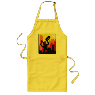Robot Destroy Long Apron