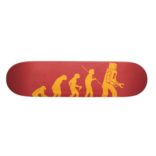 Robot Evolution Sheldon Cooper Big Bang Theory Skateboards