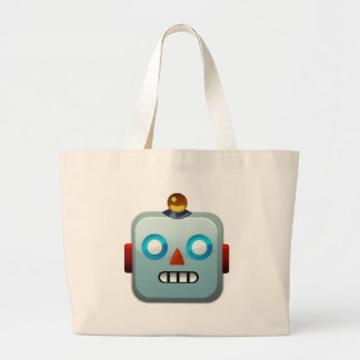 Robot Face Emoji Large Tote Bag