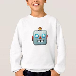 Robot Face Emoji Sweatshirt