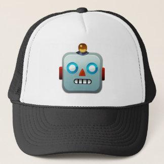Robot Face Emoji Trucker Hat