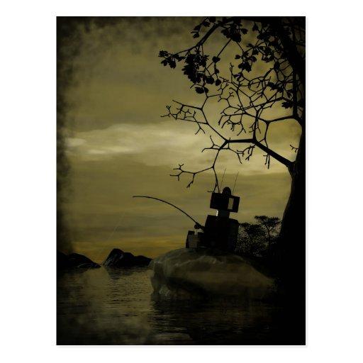 Robot Fishing Postcard