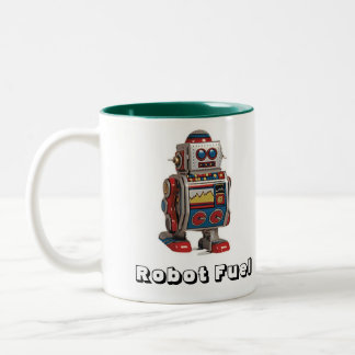 Robot Fuel Two-Tone Coffee Mug