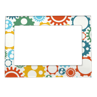 Robot Gears Pattern Magnetic Picture Frame