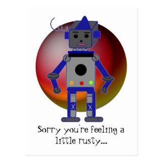 Robot Get Well Postcard