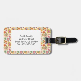 Robot Girl and Garden Kids Pattern Luggage Tag