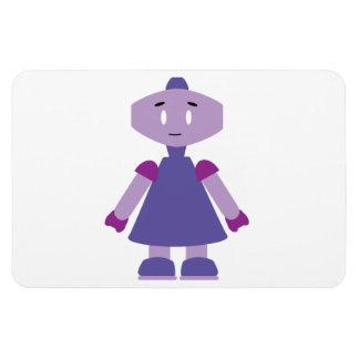 Robot girl cartoon rectangular photo magnet