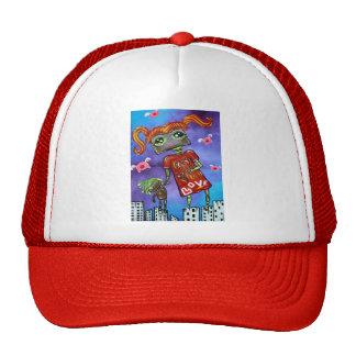 Robot Girl Mesh Hat
