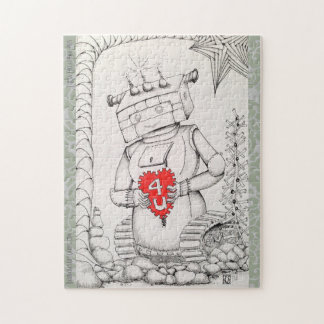 """""""Robot Girl"""" Jigsaw Puzzle, 110 or 252 pieces. Jigsaw Puzzle"""