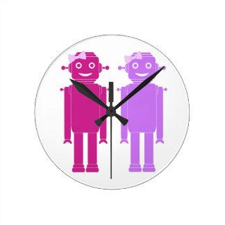 Robot Girls Clock