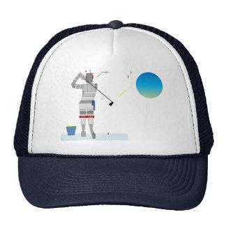 Robot Golfer in Space Cap