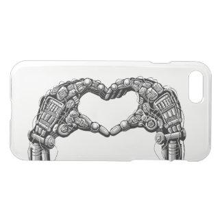 Robot hands make heart shape iPhone 8/7 case