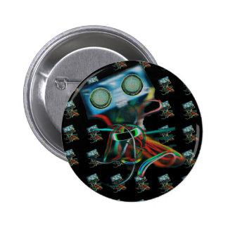 Robot Inspired 6 Cm Round Badge
