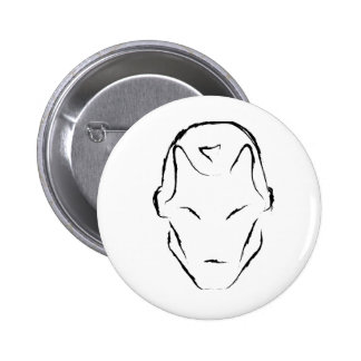 robot inspired design 6 cm round badge