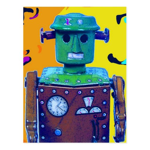 robot invasion 1-1 postcard
