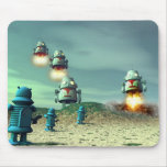 Robot Invasion From Above V2 Mousepad