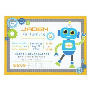 Robot birthday invitations zazzle robot invitation robot party robot birthday filmwisefo