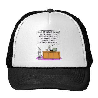 robot judge sentence hard drive reformatted mesh hats