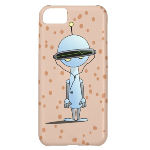 Robot listening to his beats iPhone 5C cover