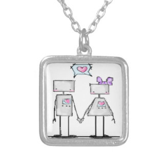 Robot Love Charm Necklace