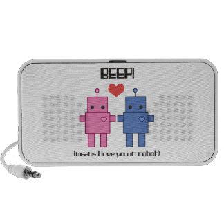 Robot Love Design Mini Speakers