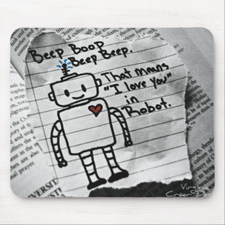Robot Love Mouse Pad